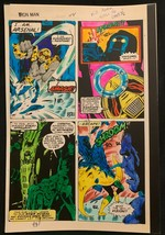 Iron Man #114 1978 Marvel original color guide art Avengers 1st Arsenal 2 Pages! - $116.52
