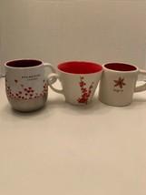 Lot 3 Starbucks mugs Hearts Balloon Stainless Steel, cherry blossoms, Inspire - $32.95