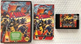 ☆ X-Men (Sega Genesis 1993) AUTHENTIC Complete in Case Game Tested Works ☆ - $18.00