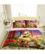 3D Blue-haired Girl P39 Japan Anime Bed Pillowcases Quilt Duvet Cover Acmy - $54.57+