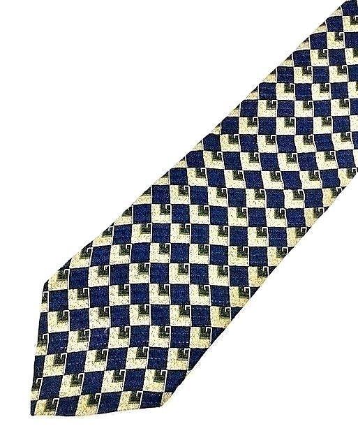 New KENNETH COLE New York TIE Navy Gold Silk Men's Neck Tie
