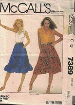 McCall's 7389 Misses Flared Pull on Skirt Size Small 10/12 1981 Vintage 80s Look - $3.46
