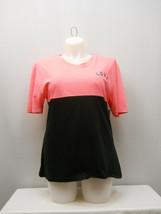 Onfire Women's Knit Top Solid Color Block Short-Sleeve Cotton Size 3XL - $15.97