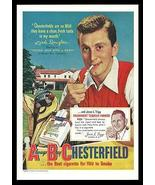 Chesterfield Cigarette AD 1950 Kirk Douglas Golfing ABC Collectible Adve... - $14.99