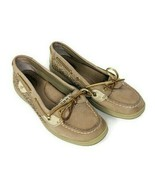 Sperry Womens 7.5 Top-Sider Angelfish Gold & Beige Leather Shoes Loafers - $34.64