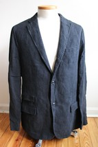 Polo Ralph Lauren 44L Faded Black 100% Linen Distressed Sport Coat Jacke... - $55.10
