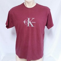 VTG Calvin Klein T Shirt 90s Spell Out CK Jeans Tee Original Logo Hip Ho... - $39.99