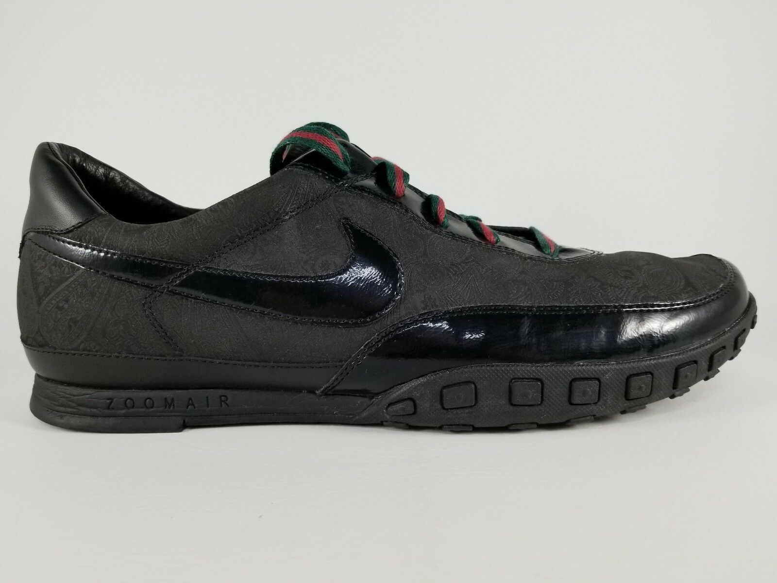 Nike Waffle Racer III 3 Athletic Shoes SZ 14 Mens Sneakers Black Green Red RARE