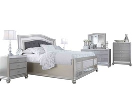 Ashley Coralayne 6PC Bedroom Set Queen Upholstered - Silver - $3,550.19