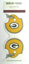 Green Bay Packers 1980 Football Schedule Sports Matchbook Cover Helmet D... - $1.75