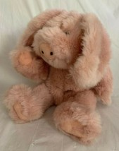 """Vintage 1991 Boyds Rosie O'pigg The Pink Big Ear Pig 10"""" Plush Stuffed Jointed - $16.82"""