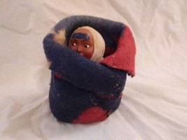 Antique Vtg Skookum Baby Doll Native American Felt Blanket Pouch Papoose... - $30.00