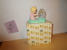 Enesco Easter Precious Moments Painting Egg Globe Figurine - $14.99