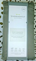Threshold Performance King Pillowcases 400 TC Brown / River  sealed  STORE image 2