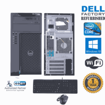 Dell Precision T1700 Computer i7 4770  3.40 16gb 1TB HD Win 10 64 Wifi g... - $544.15