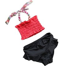 Cute Baby Girls Beach Suit Lovely Bikini Design Swimsuit 2-3 Years Old(90-100cm)