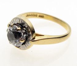 9 Carat Yellow Gold Solitaire Ring, Paste Size O - $118.87