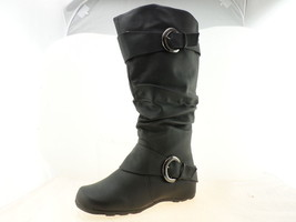 Journee Collection Womens Slouch Buckle Knee High Boots Black Size 9.5 - $49.29