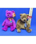 TY Beanie Babies Plush Original Stuffed Bears 1999 Millenium 2000 Hero L... - $12.22