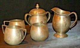 Quadruple Plated Silver Creamers & Sugar Bowls Vintage Empire Crafts AB 341 image 4
