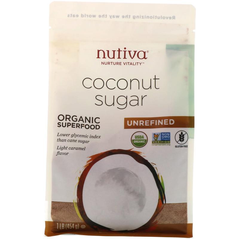 Nutiva, Organic Coconut Sugar, 1 lb (454 g) image 1