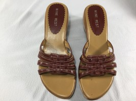 Nine West Red/Brown Slip-on Wedge (like) Shoe Size 7.5 Used - $12.59