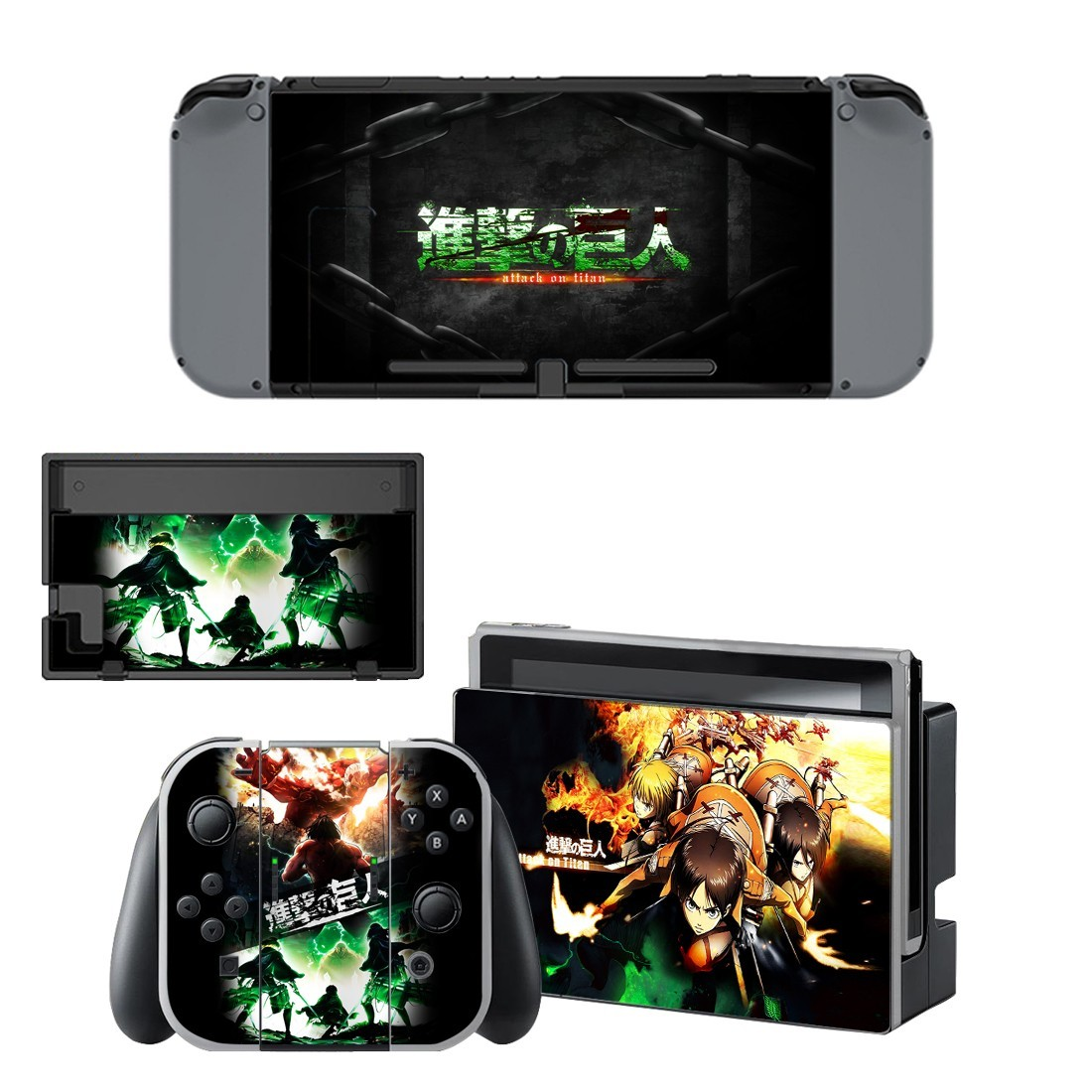 Attack on titan vinyl decal for Nintendo switch console sticker skin