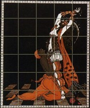 Nijinsky By George Barbier - 30 Tile Art Mural, Kitchen Shower Bath Backsplash ( - $405.00