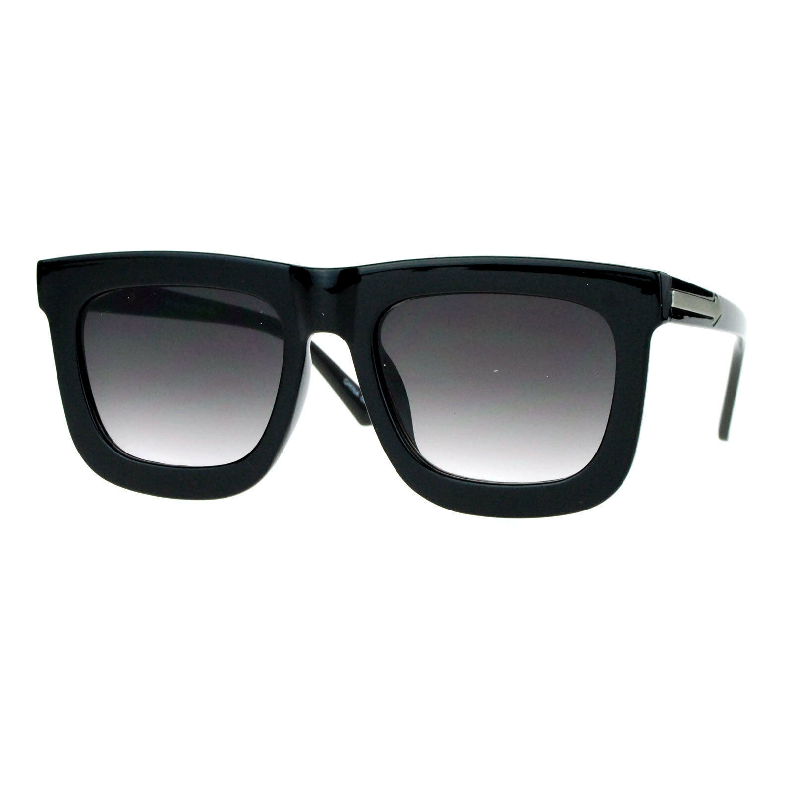 Super Flat Lens Sunglasses Arrow Design Oversized Square Frame New Hot