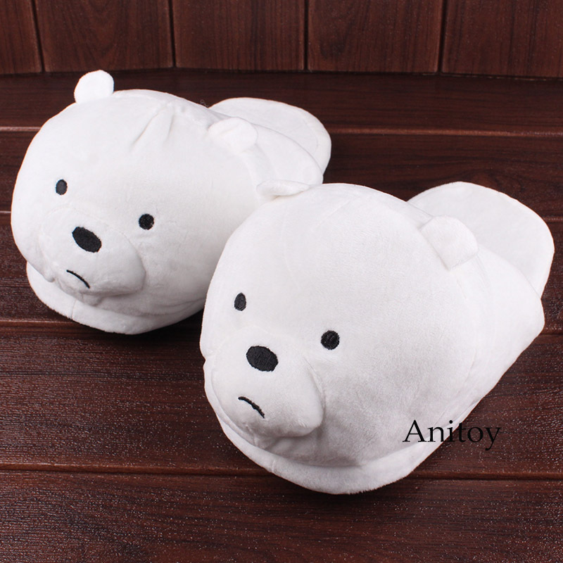 We Bare Bears Cartoon Bear Grizzly Panda Ice Bear Adult Plush Slippers Winter In image 3