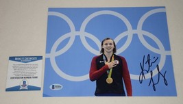 OLYMPICS GOLD MEDALIST KATIE LEDECKY SIGNED AUTOGRAPHED 8x10 PHOTO BAS F... - $474.97