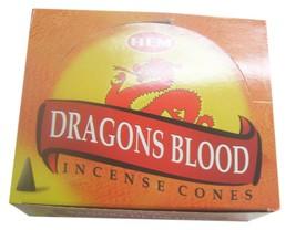 Hem Dragons Blood Fragrance Incense Cones Dhoop 12 Pack of 10 Cones Each - $15.43