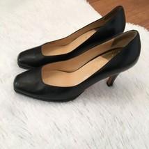 Cole Haan Women's Pumps Heels Nikeair Black Size 9B Shoes Square Toe D27047 - $69.30