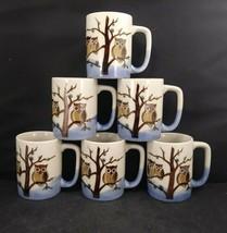 4 Vintage Otagiri Original Speckled Owl Stoneware Coffee Mugs Handcrafted Japan - $59.40