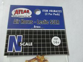 """Atlas # BLMA222 Air Horns Brass """"Leslie S3LR""""  2 per Pack  N-Scale image 4"""