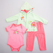 Baby Girls 12 Months Buster Brown 3pc. Turtle Knit Hoodie Set - $1,499.00