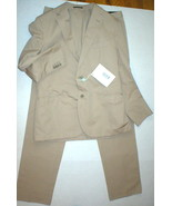 New Mens 42 RG NWT Designer Piombo Suit Beige Tan Italy 54 Cotton 36 35 ... - $579.60