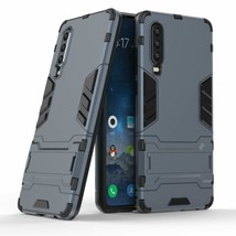 Huawei P30 Case Heavy Duty Rugged Armor Cover Kick Stand BLUE 2121™ - $15.16