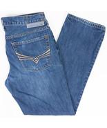 Guess Delmar Slim Straight Mens Jeans Medium Wash Size 31x30 - $34.35