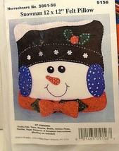 """Design Works Herrshners Snowman No. 5051-56 12 x 12"""" Felt Pillow Kit 5156 - $9.41"""