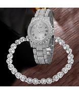 Fashion GENEVA Women Ladies Watch Black White Alloy Mesh Band Wrist Watc... - $12.99