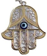 Renaissance silver metal hamsa evil eye original design from Israel holy... - £8.22 GBP