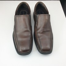 Dockers Shoes Size 11.5 Franchise Bicycle Toe Leather Loafer 90‑27227 Brown - $40.94