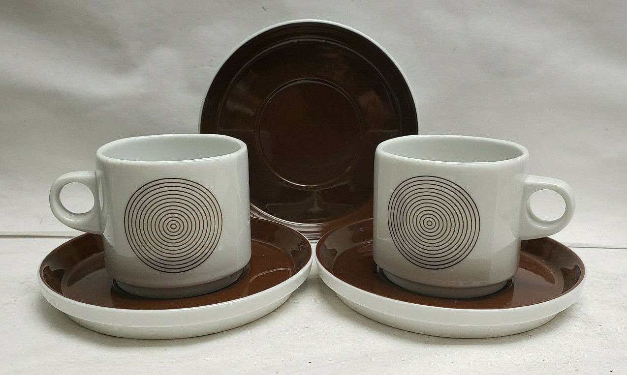 Primary image for Two (2) ROSENTHAL Studio Line China - JOY 1 Pattern - CUP & SAUCER Sets