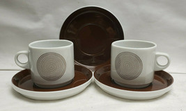 Two (2) ROSENTHAL Studio Line China - JOY 1 Pattern - CUP & SAUCER Sets - $46.95