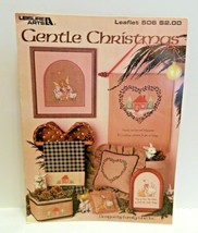 Gentle Christmas Counted Cross Stitch Patterns Leisure Arts Leaflet 506 1987 - $1.99