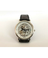 Extremely Rare GUCCI Platinum Skeleton Enamel LIMITED Automatic Lady Swi... - $7,129.50