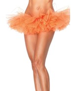 Orange Organza Tutu Tulle Layered Crinoline Petticoat Slip Halloween Cos... - $13.09