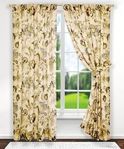 Ellis Curtain Brissac Tailored Panel Pair with Tiebacks, 70 x 63, Linen ... - $61.20