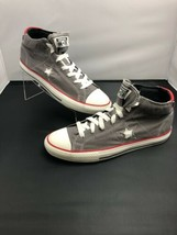 Converse Chuck Taylor Classic Hi Top Gray Red White 141204FT Mens Size 10 - $44.55